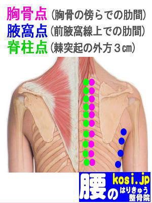 腋窩点、福岡 太宰府 こしの鍼灸整骨院