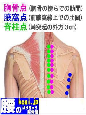 胸骨点、福岡 太宰府 こしの鍼灸整骨院